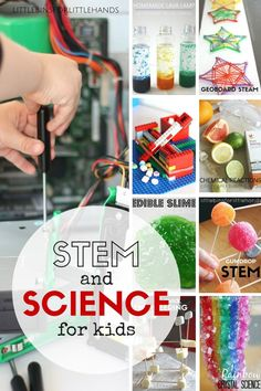 Science experiments and STEM activities for kids in preschool, kindergarten, and grade school age kids. Try fun STEM challenges and easy kids science activities at home or school.