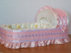 Girl Rocking Horse Big Diaper Bassinet Gift Basket Baby Shower Centerpiece | eBay