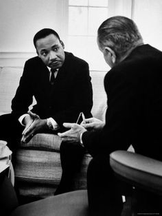 I would name this photo tempered optimism. A great shot of MLK and LBJ during civil rights movement. #history #leaders #photography