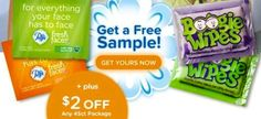 Free Sample Puffs Fresh Faces & Boogie Wipes.  See more #freebies , #deals & #coupons at ourfrugalfamily.net