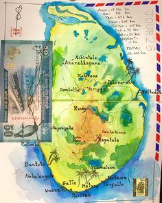 Récapitulatif du circuit au Sri Lanka  # watercolor # aquarelle # sketch # travel journal  # carnet de voyage  # Sri Lanka
