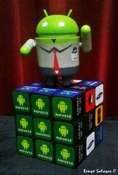 En cubo de rubik. #android #cubo #rubik