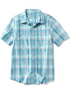 Plaid Short-Sleeve Shirt for Boys Product Image