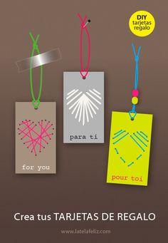DIY tarjetas de regalo. Tutorial Make your own gift tags.