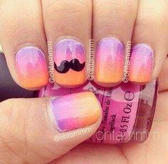 Moustache nagels