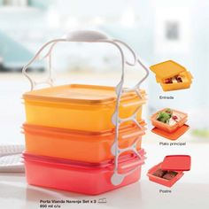 Tupperware Goody Box Square Set with handle. 3 Square containers ea, 3 matching lids and a handle (green). Please look at the pictures for colors. Made in Mexico all new 3 sets available. Colorful Pictures, Goodies, Lunch Box, Container, Kitchen Things, Fisher Price, Food, Mexico, Childhood