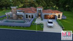 3 Bedroom House Plan - My Building Plans South Africa Tuscan House Plans, My House Plans, My Building, Building Plans, 5 Bedroom House Plans, House Wall, My Dream Home, Future House, South Africa