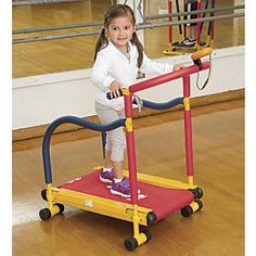 Fun & Fitness Treadmill for Kids: Adult-quality exercise equipment, sized for kids! This safe, kid-powered treadmill gives kids a great, low-impact cardio workout, and since it's self-propelled, they can control their pace and keep their footing!