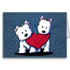 These KiniArt™ Valentine Westie duo cards sold at Zazzle today.