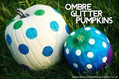 ombre-glitter-pumpkins