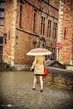 Red rain by Alexis Ramirez Flores on Bruges, Belgium, Rain, Travel, Search, Viajes, Flowers, Rain Fall