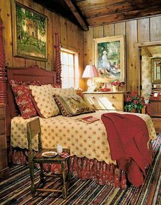 3 Prodigious Useful Tips: Vintage Home Decor Bedroom Floors vintage home decor shabby brocante.Vintage Home Decor Living Room Beautiful vintage home decor shabby keep calm and diy.Vintage Home Decor Farmhouse. Pine Bedroom, Cozy Bedroom, Bedroom Decor, Bedroom Ideas, Bedroom Red, Bedroom Modern, Girls Bedroom, Master Bedroom, French Country Bedrooms