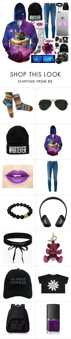 """Untitled #87"" by potato-cloud on Polyvore featuring Ray-Ban, Fiebiger, Frame, Berluti, Boohoo, Burberry, Nasaseasons, Loungefly, NARS Cosmetics and whatever"