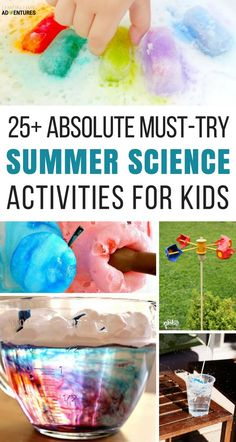 Absolute Must-Try Summer Science Activities for Kids! Love these summer science experiments! Absolute Must-Try Summer Science Activities for Kids! Love these summer science experiments! Science Activities For Kids, Preschool Science, Science Experiments Kids, Science Projects, Science Ideas, Science Fun, Science Chemistry, Physical Science, Science Education