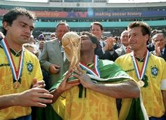 USA World Cup 1994 - Romario, Dunga, Branco.