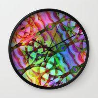Diagonal Rainbow Graphic Wall Clock