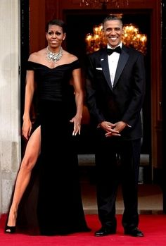 Michelle striking a pose...love it...The Obamas