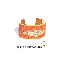 Manchette Galuchat www.meg-creation.com Muriel, Cuff Bracelets, Creations, Belt, Accessories, Jewelry, Fashion, Fine Jewelry, Hands