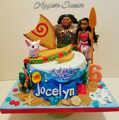 Disney Princess Moana Birthday Cake