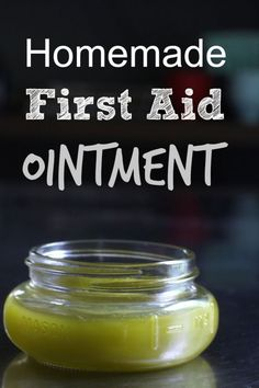 First aid ointment made with plantain