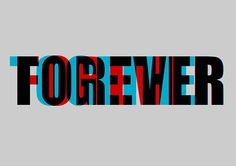 Anaglyph Typography by Mark Hossain, via Behance