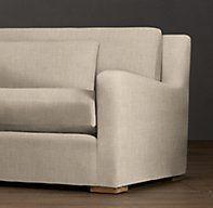 6' Belgian Slope Arm Upholstered Sofa
