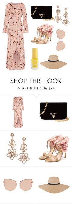 """""""#NocheEnlaPlaya"""" by andreaa16-00 on Polyvore featuring Mikael Aghal, Prada, Kate Spade, Rupert Sanderson and Topshop"""