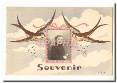Vintage Postcard Souvenir (swallows child)