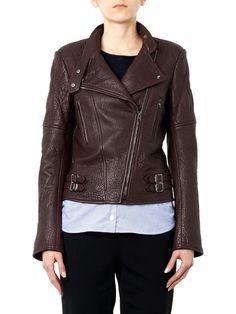 Joseph Bubble-leather biker jacket