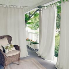 Indoor/outdoor tab top window curtain drape single panel gives your windows a look of simple sophistication with the durability to withstand the elements. A cinch to hang and adjust, place in the patio,