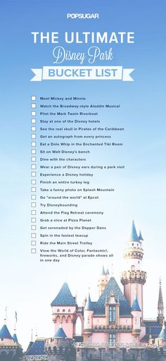 We put together a list of must-do Disney experiences that go beyond the ordinary agenda of theme park rides and cartoon films. And once youve completed them all you can undoubtedly call yourself a Disney fan. - Travel Orlando - Ideas of Travel Orlando Disney Parks, Walt Disney World, Disney Tips, Disney Fun, Disney Magic, Disney Pixar, Disney Films List Of, Disney Secrets, Disney Stuff