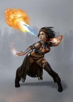 """My new Pathfinder character """"Riven Fire-Hair""""   Fire Breather by ~Hygami on deviantART"""