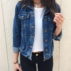 Grunge Denim Jacket - http://ninjacosmico.com/18-must-have-grunge-accessories-clothing/5/