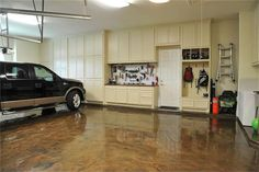 Painting your garage floor is an easy way to spruce up your garage or create more living space in your home. Learn how to do it right the first time!|Painted Furniture Ideas
