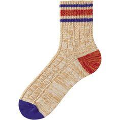 MEN LINE CABLE ANKLE SOCKS Color: 32 BEIGE Uniqlo Men, Ankle Socks, Cable, Beige, Pink, Color, Fashion, Cabo, Moda