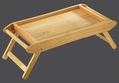 Zassenhaus Bett- / Serviertisch 69 x 35 cm - aus nachhaltig angebautem Gummibaumholz  Länge: 69 Breite: 35 Höhe: 7 cm