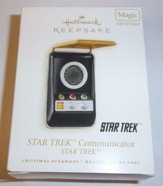 Hallmark Star Trek Communicator Keepsake Magic Christmas Ornament Light & Sound