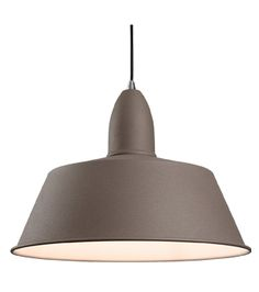 Firstlight 'Riva' Single Light Ceiling Pendant, Concrete Finish - 3404CN