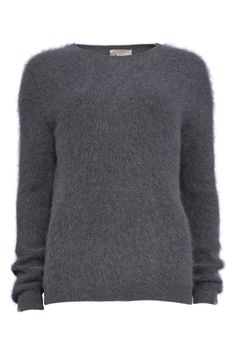 ACNE Angora Pullover Rakel in Grau melange