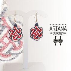 Ariana 4 Earrings. Orecchini in tessuto. Orecchini leggeri. Pendenti. Orecchini colorati di FabylaStore su Etsy