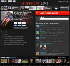 Launching Today: HuffPost Live, TV News For The Internet Age - Forbes    It required the hiring of some 100 producers, camera operators and on-air personnel, who will be cranking out 60 hours per week of live video. Editors will then take that footage and repurpose it into 500 clips per week to be redistributed across HuffPost's 70 content verticals.