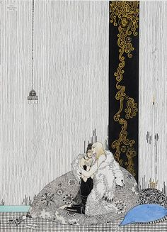 Kay Nielsen, Danish illustrator (1886-1957). 'The Lad in the Bear Skin and the Daughter of the King of Arabia'