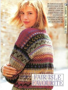 Knitting pattern  Woman's top Fair Isle by MyPatternsCollection
