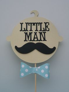 Little Man Baby Shower Centerpiece Mustache by EMTsweeetie