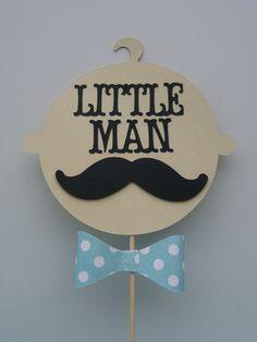 Little Man Baby Shower Centerpiece Mustache by EMTsweeetie