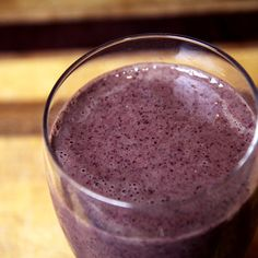 Drink Yourself to a Flat Belly: Pineapple Kale Blueberry Smoothie  3 ounces vanilla nonfat Greek yogurt 1 tablespoon almond butter 1/2 cup frozen blueberries 1/2 cup frozen pineapple 1 cup kale 3/4 cup water