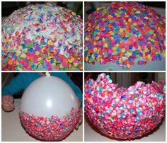 Un bol avec des confettis