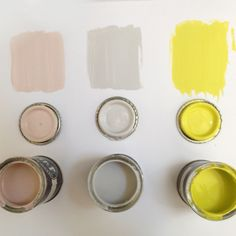 Yellowcake also works wonderfully well with pale pinks and greys. We recommend pairing with Farrow & Ball's Pink Ground + Ammonite.