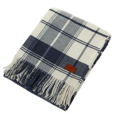 City Check Throw - Indigo Blue -  from Gant @ Amara Home