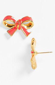 So pretty! Kate Spade bow earrings.